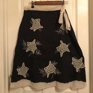 Beautiful Anthropologie Odille black skirt size 12
